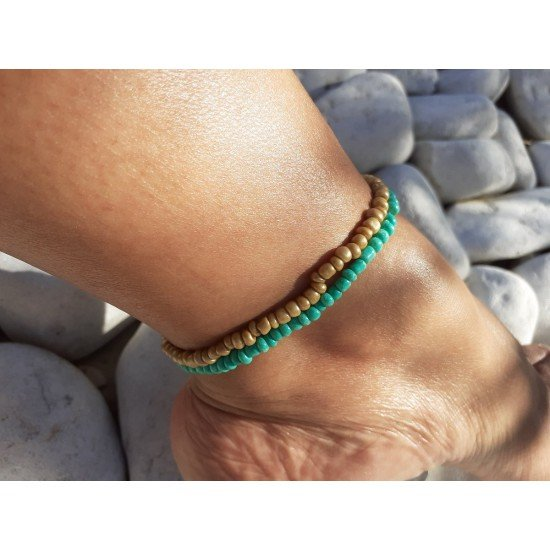 Ankle Chain: Pearl Coffee